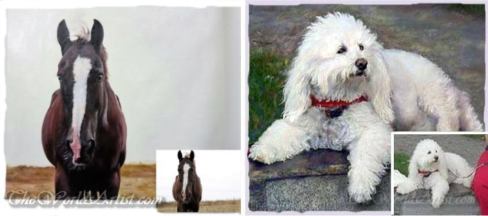animal portraiture painting