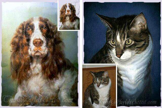 turn your dog photo into a custom pet portrait