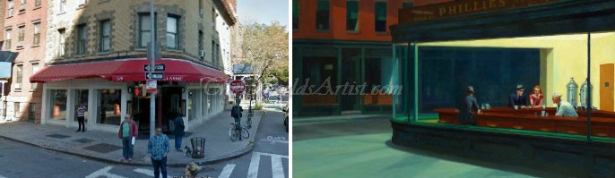 Edward Hopper Nighthawk Painting Location Found