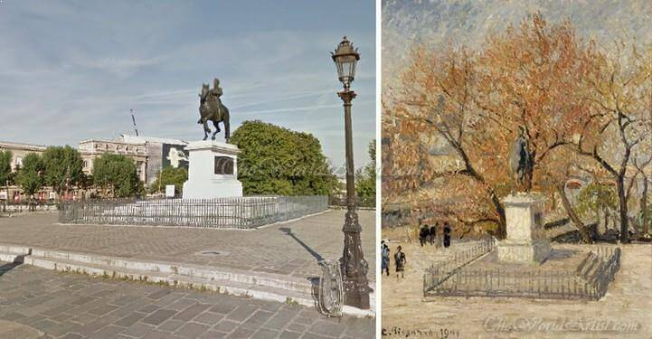 Camille Pissarro Statue of Henry IV