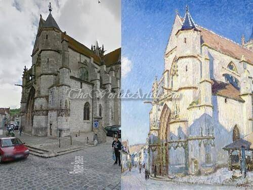 Alfred Sisley The Church at Moret