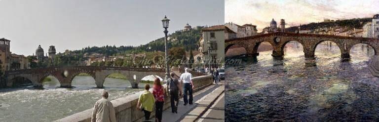 Frits Thaulow The Adige River at Verona
