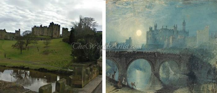 J M William Turner Alnwick Castle