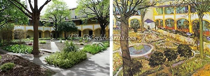 Vincent van Gogh Garden of the Hospital in Arles