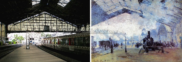 Claude Oscar Monet Arrival of the Normandy Train Gare Saint Lazare
