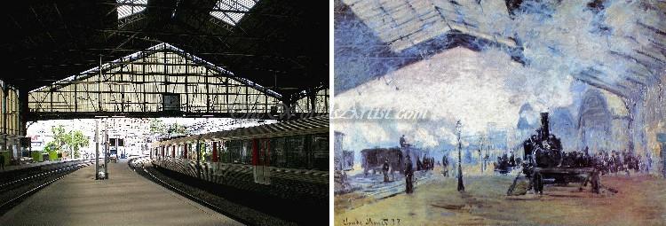 Claude Oscar Monet Arrival of the Normandy Train Gare Saint Lazare
