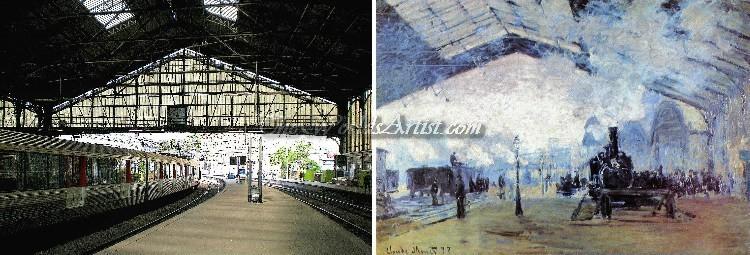 Oscar Claude Monet Arrival of the Normandy Train Gare Saint Lazare