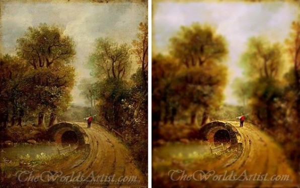 Tilt-Shift John Constable Paintings.