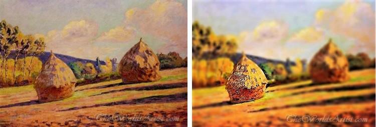 Tilt-Shift Armand Guillaumin Paintings.