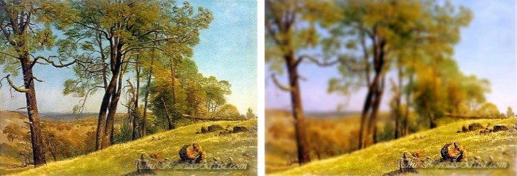 Tilt-Shift Albert Bierstadt Oil Paintings.