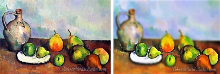 Tilt-Shift Paul Cezanne Oil Paintings.