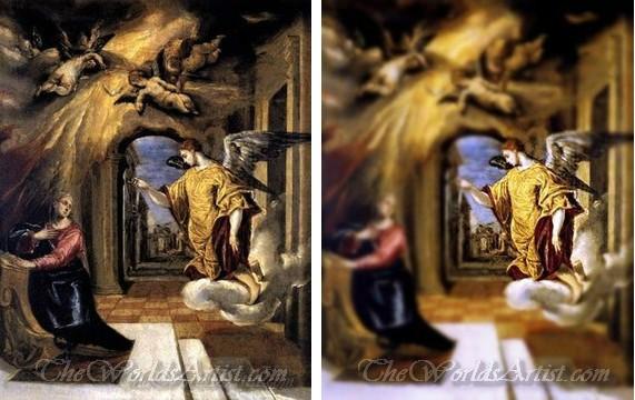 Tilt-Shift El Greco Oil Paintings.