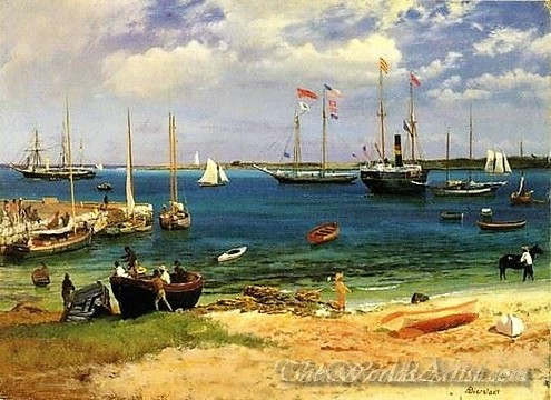 Original Albert Bierstadt Nassau Harbor
