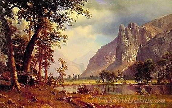Original Albert Bierstadt Yosemite Valley