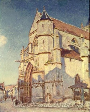 Original Alfred Sisley The Church at Moret