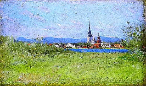 Original Anders Zorn Mora Church