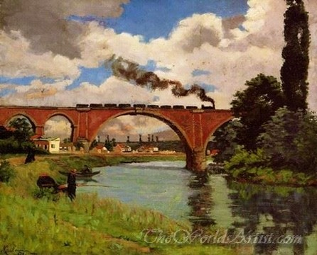 Original Armand Guillaumin Bridge over the Marne at Joinville