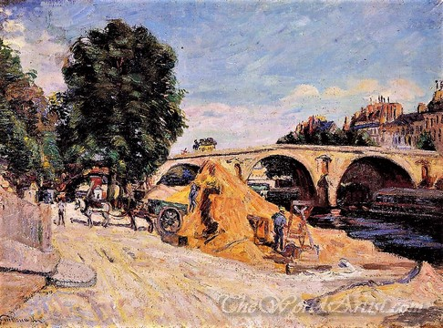 Original Armand Guillaumin Pont Marie from the Quai d Anjou
