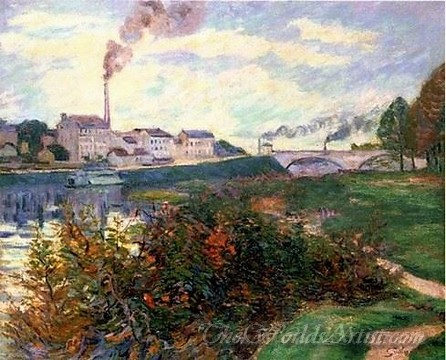 Original Armand Guillaumin The Banks of the Marne