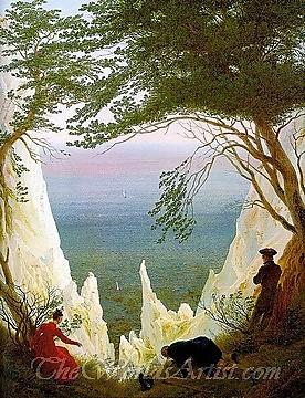 Original Caspar David Friedrich Chalk Cliffs on Rugen