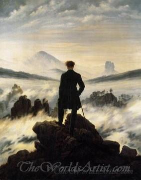Original Caspar David Friedrich Wanderer above the Sea of Fog