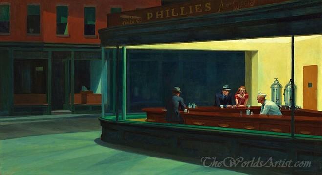 Original Edward Hopper Nighthawks