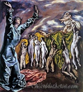 Original El Greco The Opening of the Fifth Seal The Vision of St John