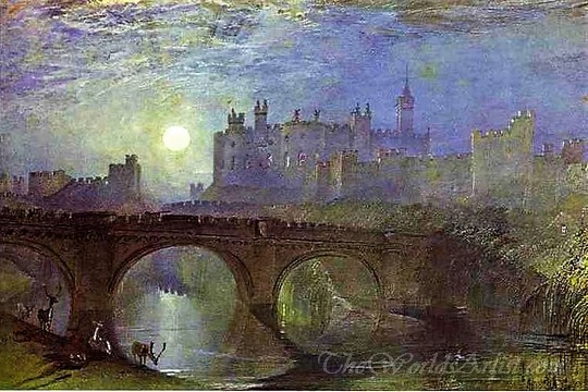 Original J. M. William Turner Alnwick Castle