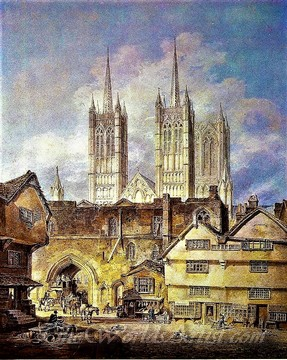 Original J. M. William Turner Cathedral Church at Lincoln
