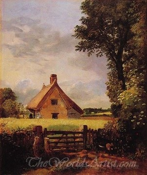 Original John Constable A Cottage in a Cornfield