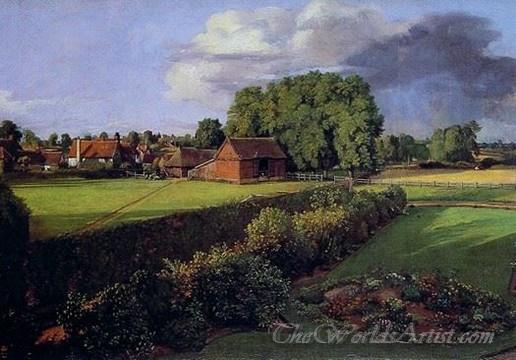 Original John Constable Golding Constables Flower Garden