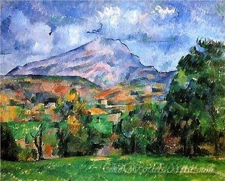 Original Paul Cezanne Sainte Victoire 1890