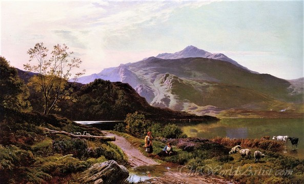 Original Sidney Richard Percy A Rest on the Roadside