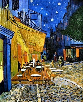 Original Vincent Van Gogh Cafe Terrace at Night