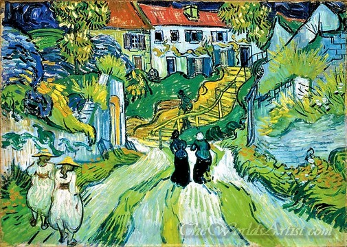 Original Vincent Van Gogh Stairway at Auvers