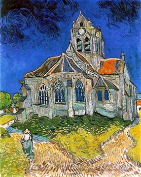 Original Vincent Van Gogh The Church in Auvers Sur Oise View From The Chevet