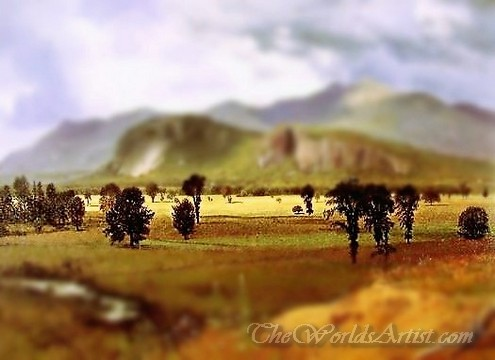 Tilt-Shift Albert Bierstadt Moat Mountain Intervale New Hampshire