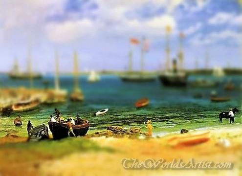 Tilt-Shift Albert Bierstadt Nassau Harbor