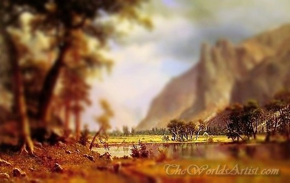 Tilt-Shift Albert Bierstadt Yosemite Valley