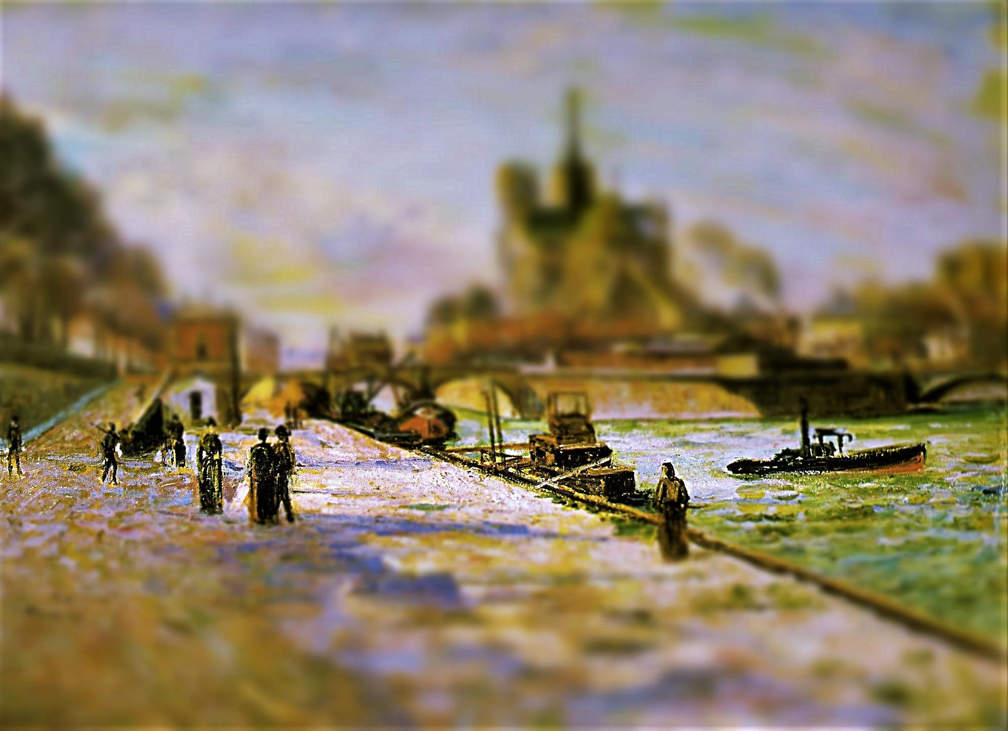 Tilt-Shift Armand Guillaumin Notre Dame de Paris