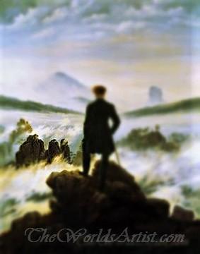 Tilt-Shift Caspar David Friedrich Wanderer above the Sea of Fog