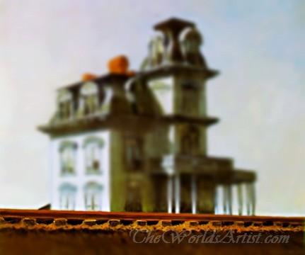 Tilt-Shift Edward Hopper House by the Railroad