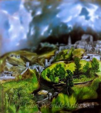 Tilt-Shift El Greco A View of Toledo