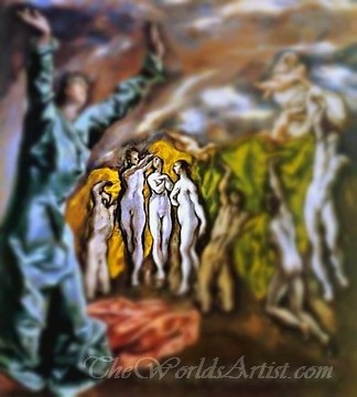 Tilt-Shift El Greco The Opening of the Fifth Seal The Vision of St John