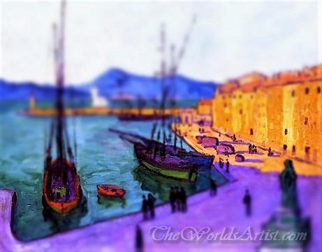 Tilt-Shift Francis Picabia Port Of Saint Tropez Evening Effect