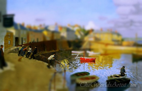 Tilt-Shift Harold Harvey A View Of Mousehole Harbour Cornwall