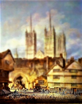 Tilt-Shift J. M. William Turner Cathedral Church at Lincoln