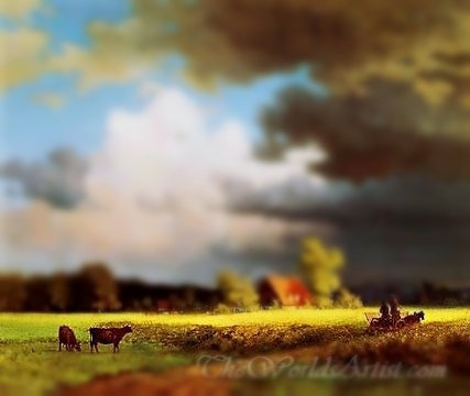 Tilt-Shift John Constable Bavarian Landscape