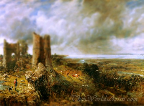 Tilt-Shift John Constable Hadleigh Castle Photo