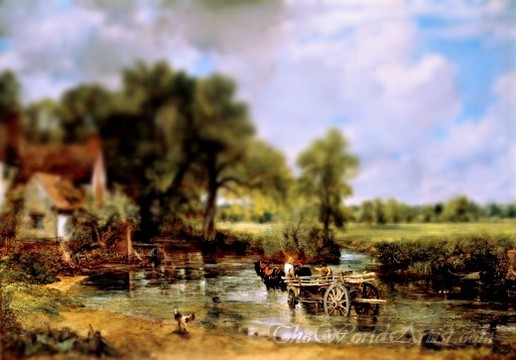 Tilt-Shift John Constable the Hay Wain Photo